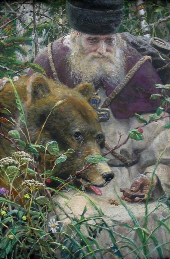 Сергей Матвеев. Медведь. Басня Напасть